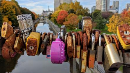 Locks on a bridge